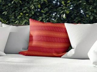 GRADIENT STRIPES ORANGE Indoor Outdoor Pillow by Kavka Designs   16X16