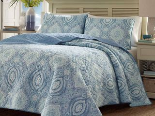 Tommy Bahama Turtle Cove Full Queen Quilt Sham Set