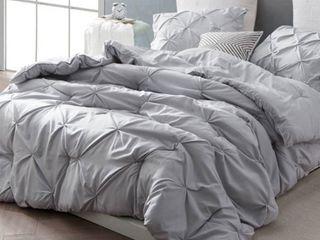 BYB Glacier Grey Pin Tuck Comforter Set twin xl