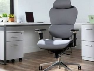 OFM Core Collection Ergo Office Chair featuring Mesh Back and Seat with Optional Headrest   Fabric   Grey