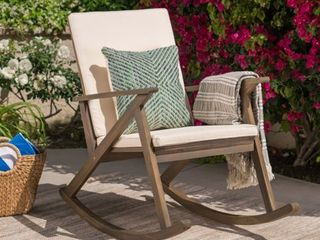 Gus Outdoor Wood Rocking Chair by Christopher Knight Home Retail 192 49