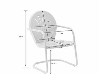 Dublin Bay White Metal Chair by Havenside Home  Retail 106 99