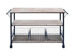 Carbon loft Dolby Metal and Wood 3 basket Utility Cart  Retail 321 08