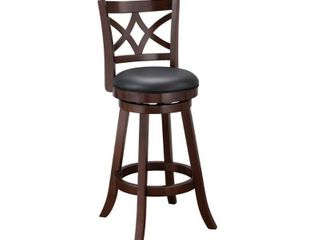 Swivel Brown Wood Counter Bar Stool Cardiff Collection by Boraam  Retail 105 49