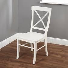 simple living Easton antique white cross back chair