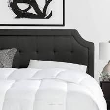 BROOKSIDE Upholstered Scoop Edge Headboard only with Square Tufting  Retail 143 49 charcoal twin
