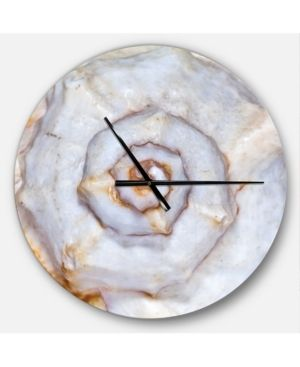 Designart  Great Skeleton of Sea Shell  Oversized Coastal Wall Clock  Retail 121 49