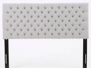 Jezebel Adjustable Full  Queen Button Tufted Headboard only by Christopher Knight Home  Retail 147 49 light grey