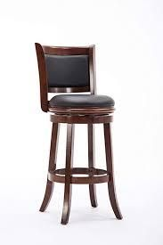 cherry finish dark grey linen swivel bar height stool 1 only