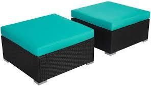 Kinsunny Outdoor ottoman only turquoise blue