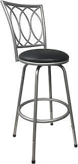 Redico Bar  Counter Height Adjustable Metal Powder Coated Barstool black 2 pc