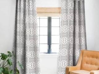 Deny Designs Black Dot Holli Zollinger Blackout Single Curtain Panel Retail 83 49