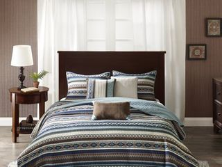 Copper Grove Geneva Blue Quilted 6 piece Coverlet Set Retail 92 49