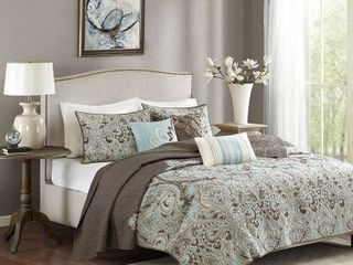 Madison Park lavinia Quilted 6 piece Coverlet Set Retail 96 34