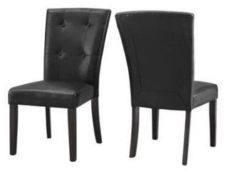 Fairfax Faux leather Dining Chair  Set of 2  by Greyson living Retail 169 09