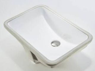 CB HOME Rectangle White Ceramic Undermount Bathroom Vanity Sink