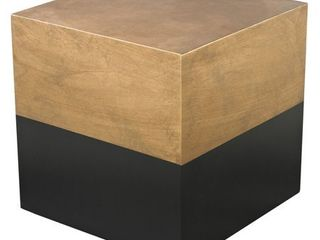 lS Dimond Home Black and Gold Draper Cube Table Retail 210 60