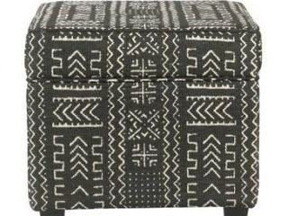 Carson Carrington Birkerod Onyx Square Ottoman with lift Off Top Retail 79 98