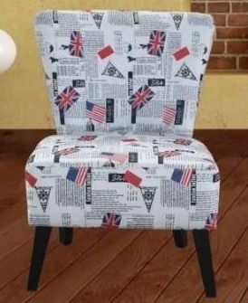 Porch   Den Audobon Patterned Fabric Accent Chair Retail 121 99