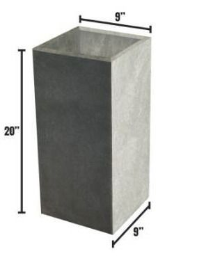 Durx-litecrete Lightweight Concrete Modern Long Granite Color Low Planter-Small - 23.2'x11.8'x12' Retail:$75.48