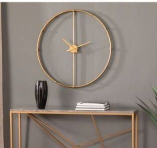 Carson Carrington Dexdale Contemporary Gold large Metal Clock Retail 124 99