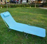 Outsunny Outdoor Folding Chaise lounge Sun Recliner Beach Patio lightweight Chair with Sturdy Durable Frame  Blue