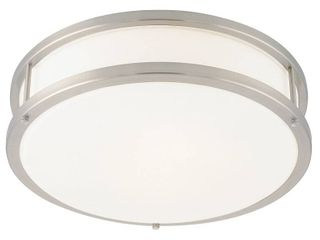 Access lighting Conga 2 light Brushed Steel 16 inch Flush Mount Retail 173 99