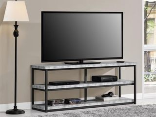 Entertainment Console Ameriwood Home Grey 25 h x 63 W x 16 5 D