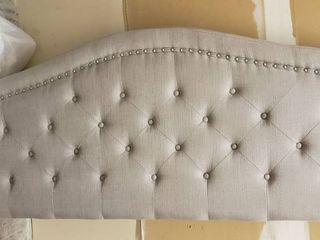 Headboard With All Hardware  Side Rails  Two legs For Headboard And Three legs For Frame  Frame And Slats Not Included