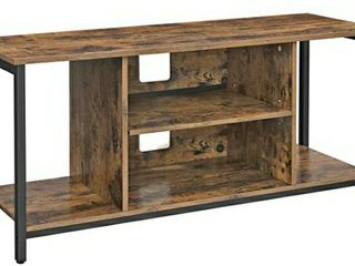 VASAGlE TV Stand for 50 Inches TV  TV Console Table with Storage  Entertainment Center  for living Room  Industrial Rustic Brown UlTV39BX