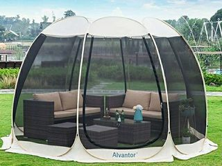 Alvantor Screen House Room Outdoor Camping Tent Canopy Gazebos 12 Person for Patios  Instant Pop Up Tent  Not Waterproof
