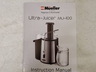 Mueller Ultra Juicer  Tested And Working