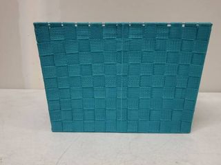 DII Durable Trapezoid Woven Nylon Storage Bin or Basket for Organizing Your Home  Office  or Closets  large Basket   13x15x10  Teal