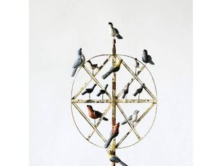 Decorative Figurine Birds on Wire   3R Studios  Missing One Bird And Peg And Nut To Hold In Place