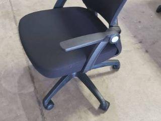 Black Office Chair 25  X 23  X 22