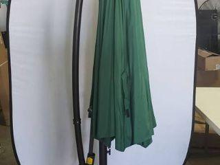 9ft Green Retractable Umbrella 8ft Tall