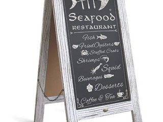 HBCY Creations Rustic Vintage Wooden Whitewashed Magnetic A Frame Chalkboard Sidewalk Chalkboard Sign   40  x 20    Still in the Plastic