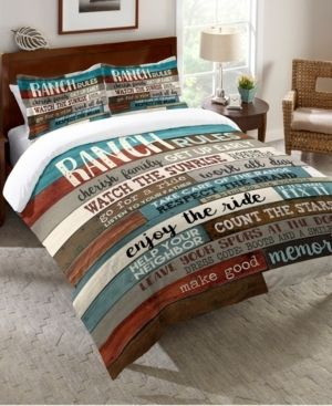 laural Home Southwest Ranch Rules King Comforter Bedding