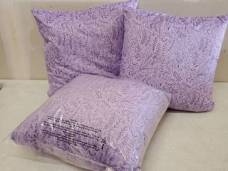 Porch And Den Deette Ditsy Violet Floral Patter Throw Pillows Set Of Three  17x17