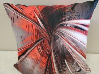 Designart Fractal 3 D Deep Into Middle Throw Pillows  3Pc