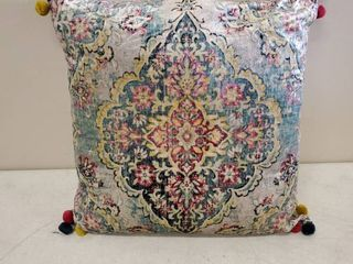 Rizzy Home Decorative Throw Pillow Cover Medallion 20 X20  Pink