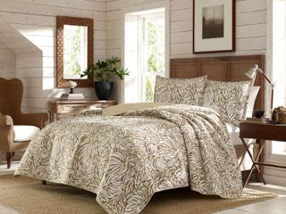 Tommy Bahama Kenya 3 Piece Brown Cotton King Quilt Set