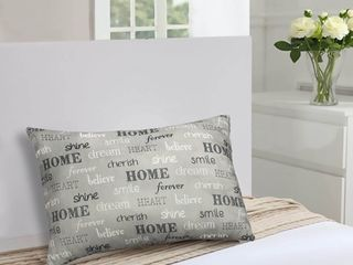 Inspire King Bed Pillow Gray 18x36