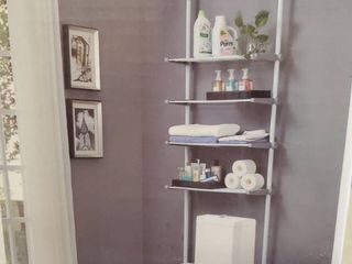 AllZONE Over The Toilet Shelf White 4Tier 20 30 Wide x 67 118 Heigth