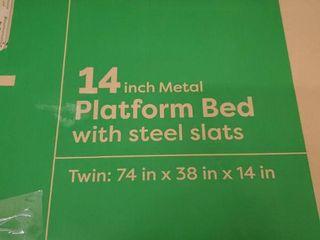 Best Price Mattress Twin Bed Frame   14  Metal Platform Bed Frame W Steel Slats