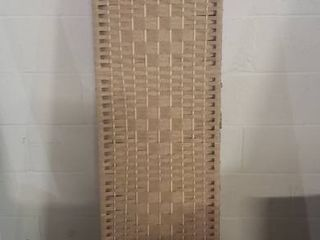 Rose Home Fashion RHF 6 ft Tall 15 7  Wide Diamond Weave Fiber 4 Panels Room Divider 4 Panels Screen Folding Privacy Partition Wall Room Divider Freestanding 4 Panel Natural