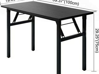 Need Small Computer Desk Folding Table 31 1 2  length No Assembly Sturdy and Heavy Duty Writing Desk for Small Spaces  Black Walnut