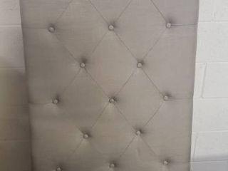 Home life Premiere Classics Cloth light Grey Silver linen 51  Tall Headboard Platform Bed with Slats Queen