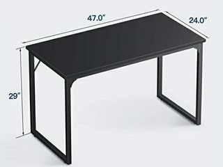 Coleshome Computer Desk 47  Modern Simple Style Desk for Home Office  Sturdy Writing Desk Black