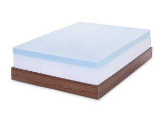 lUCID 4 Inch Gel Memory Foam Mattress Topper Ventilated Design Ultra Plush King